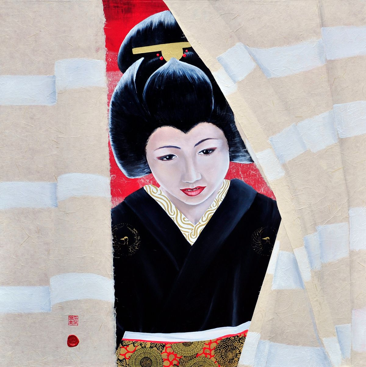 curtains of Gion 80*80 cm