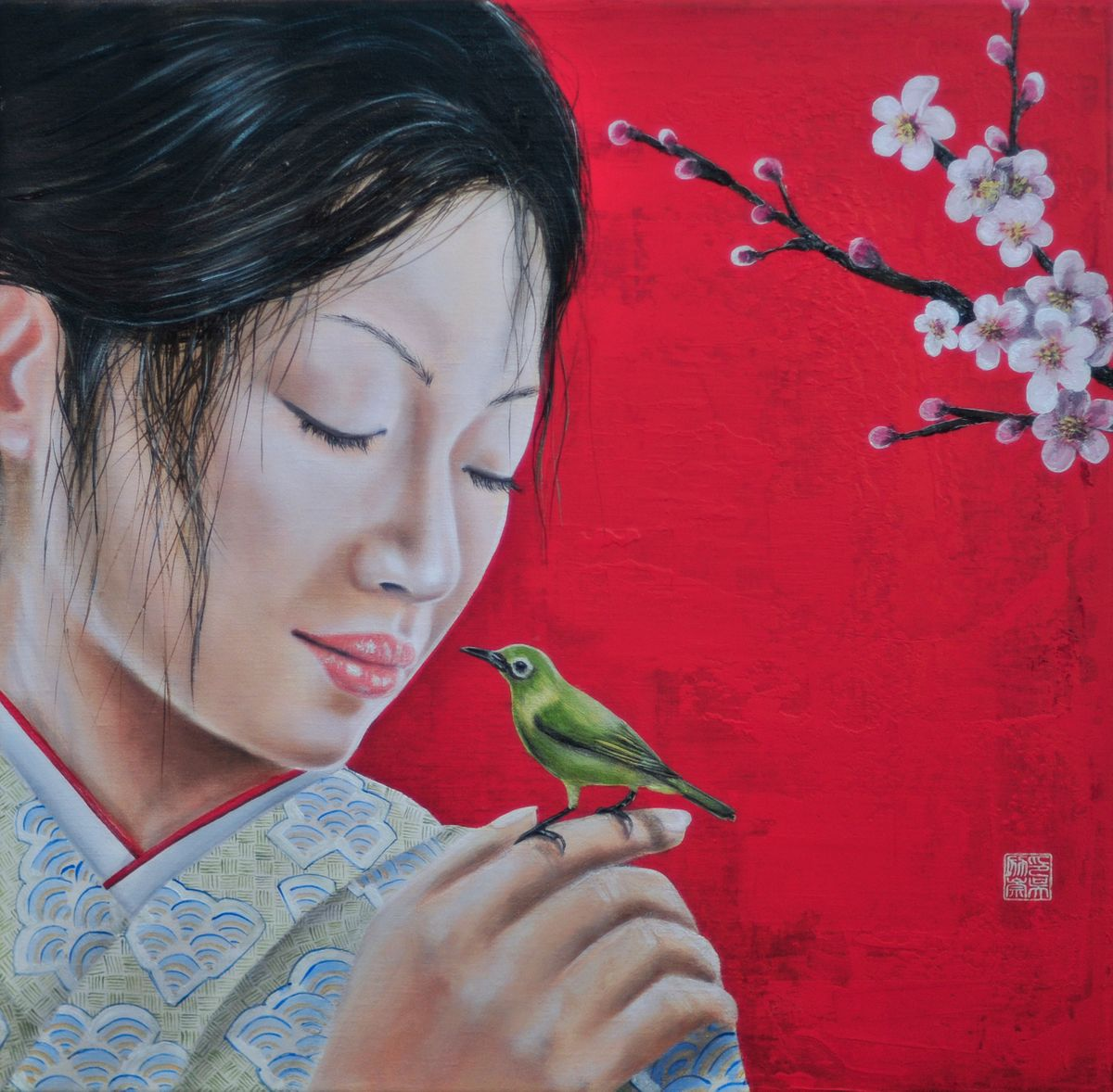 Sakura 2015 sound of the spring 50*50 cm